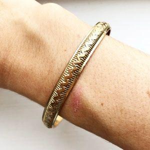 Vintage gold serpentine stacking bangle bracelet